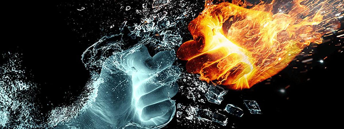 水のゲンコツと炎のゲンコツ