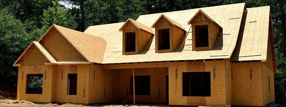 完成前の家